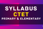 CTET Syllabus for Pre and Elementary